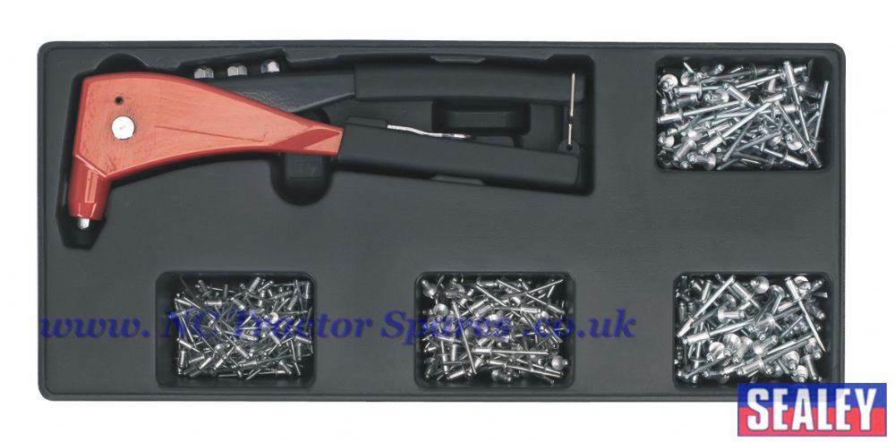 Tool Tray with Riveter & 400 Assorted Rivet Set